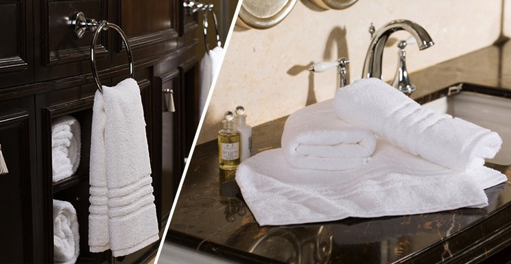 Fancy Hotel Collection Bath Towels