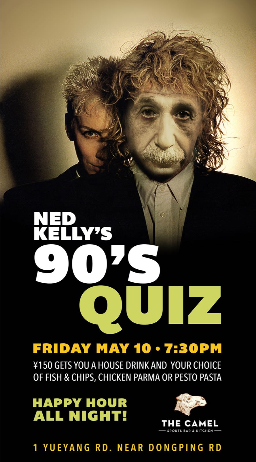There is a 90s Themed Quiz at The Camel This Friday – That's