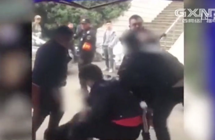 WATCH: Security Guards Beat Up Man Wearing Kimono in Central China