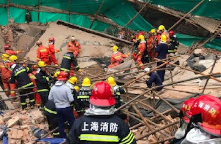 10 Confirmed Dead After Building Collapses in Shanghai