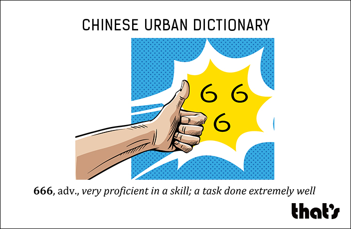 Chinese Urban Dictionary: 666