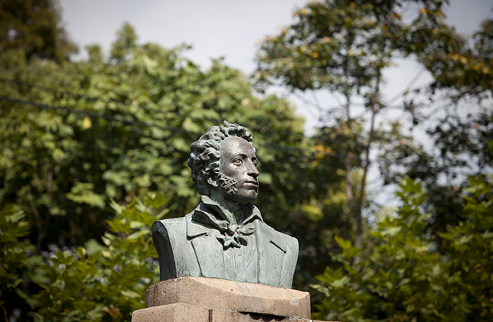 The Story Behind the Bronze Bust of Pushkin on Yueyang Lu