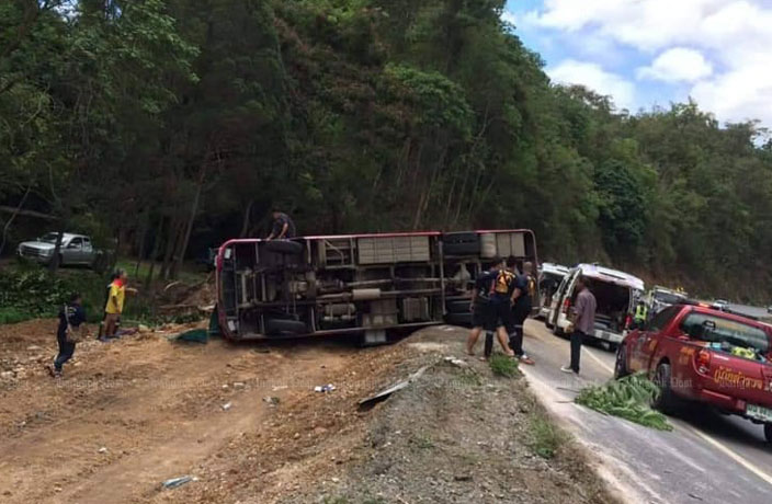 12 Chinese Tourists Injured in Thailand Bus Crash