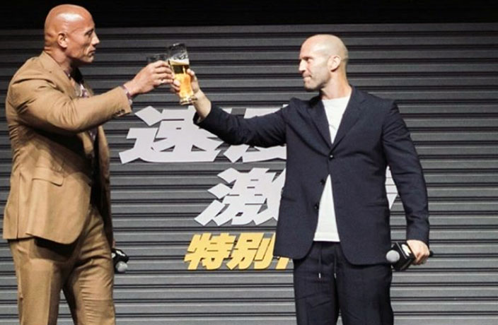 PHOTOS: The Rock, Jason Statham Wow Fans in Beijing and Guangzhou