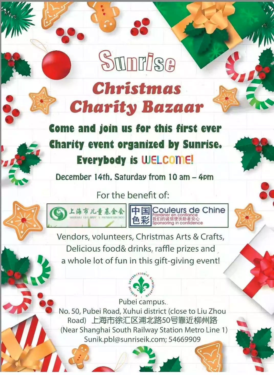 Sunrise Charity Bazaar