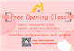 Free opening class in January