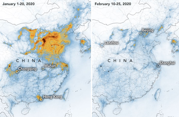 Pollution Levels Dramatically Drop Across China During COVID-19