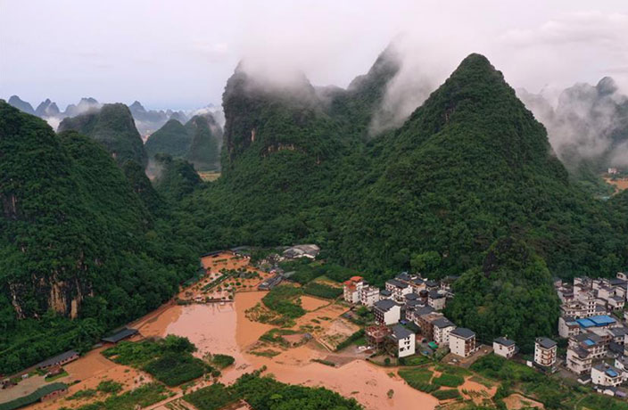 Over 300,000 People Affected by Torrential Rains in Guangxi