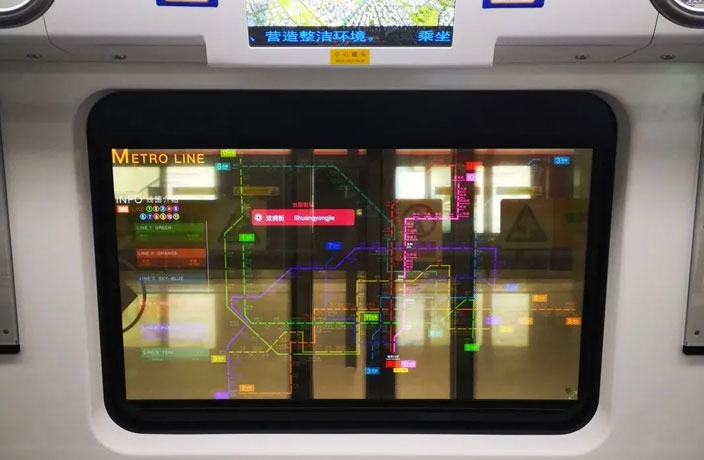 China's Metro Windows Now Have OLED Smart Displays