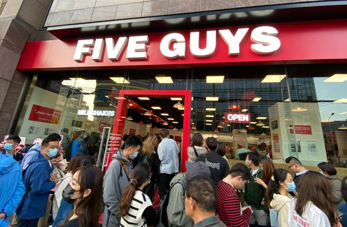 Massive Line at Five Guys' First Chinese Mainland Opening