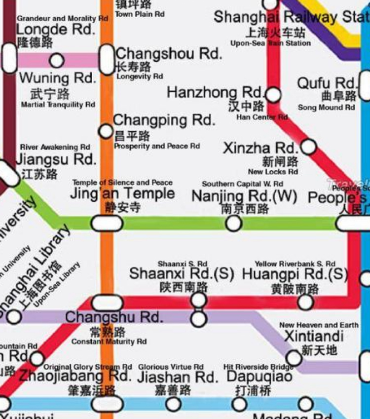 Subway Map Of The Brain.Literal English Map Of The Shanghai Subway Is Amazing And